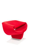 Modern style red armchair Stock Photo