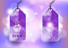 Modern Style Sale Tag Design stock illustration