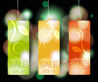 Modern Style Sale Tag Design Royalty Free Stock Images