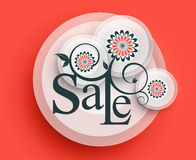 Modern Style Sale Tag Design Royalty Free Stock Photography