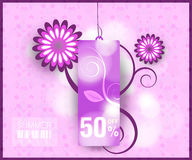 Modern Style Sale Tag Design. With copy space stock illustration