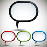 Modern style speech bubble. Royalty Free Stock Images