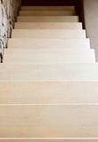 Modern style staircase in beige tone Stock Image