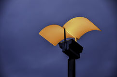 Modern style street electric iron lamp with orange colour Stock Image