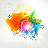 Modern style sunny watercolor colorful background Royalty Free Stock Photos