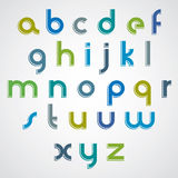 Modern style vector font. Royalty Free Stock Photography