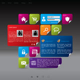 Modern style website template Royalty Free Stock Image