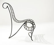 Modern Style Wire Chair. 20th century style bent wire chair Stock Photos