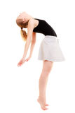 Modern style woman dancer break dancing. Modern style woman dancer teen girl break dancing studio isolated on white background royalty free stock photos
