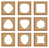 Modern style of wood frames Stock Image
