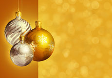Modern styled elegant christmas decor. Royalty Free Stock Images