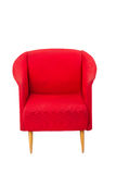 Modern styled red armchair Stock Photos