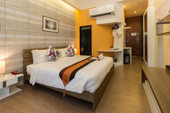Modern styles of bedroom. Of resort in Thailand stock photo