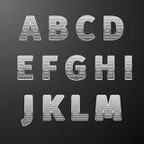 Modern Styles font Stock Image