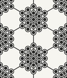 Modern stylish abstract hexagonal texture with structure of repeating circles Royalty Free Stock Photography