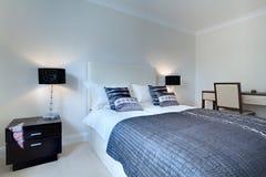 Modern stylish bedroom royalty free stock image
