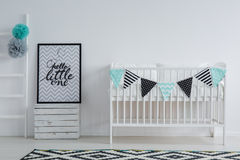 Modern, stylish child`s bedroom interior Royalty Free Stock Images