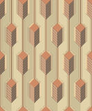 Modern stylish colorful decorative fabric texture with structure of vertical lines and geometric primitives Stock Images