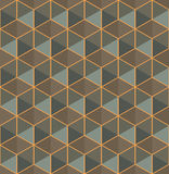 Modern stylish colorful geometric texture with structure of repeating hexagons Stock Photo
