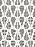 Modern stylish fabric background with structure of repeating teardrops with different geometric texture Stock Photography