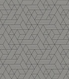 Modern stylish geometric texture with irregular structure of striped hexagons Royalty Free Stock Image