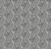 Modern stylish geometric texture with structure of repeating striped hexagons with volume surface effect Stock Images