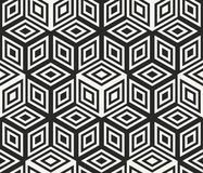 Modern stylish geometrical background design with structure of repeating cubes Stock Images