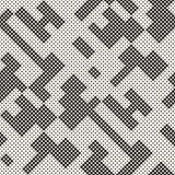 Modern Stylish Halftone Texture. Endless Abstract Background With Circles. Vector Seamless Mosaic Pattern. Modern Stylish Halftone Texture. Endless Abstract Royalty Free Stock Images