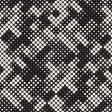 Modern Stylish Halftone Texture. Endless Abstract Background With Circles. Vector Seamless Mosaic Pattern. Modern Stylish Halftone Texture. Endless Abstract Stock Photos