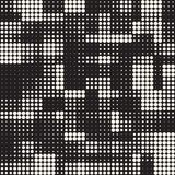 Modern Stylish Halftone Texture. Endless Abstract Background With Circles. Vector Seamless Mosaic Pattern. Modern Stylish Halftone Texture. Endless Abstract Stock Photography