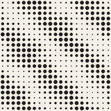 Modern Stylish Halftone Texture. Endless Abstract Background With Random Circles.   Stock Image