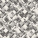 Modern Stylish Halftone Texture. Endless Abstract Background With Circles. Vector Seamless Mosaic Pattern. Modern Stylish Halftone Texture. Endless Abstract Royalty Free Stock Photo