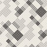 Modern Stylish Halftone Texture. Endless Abstract Background With Circles. Vector Seamless Mosaic Pattern. Modern Stylish Halftone Texture. Endless Abstract royalty free illustration