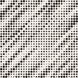 Modern Stylish Halftone Texture. Endless Abstract Background With Random Circles.  Royalty Free Stock Photography