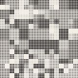 Modern Stylish Halftone Texture. Endless Abstract Background With Random Circles. Vector Seamless Mosaic Pattern. Modern Stylish Halftone Texture. Endless royalty free illustration