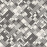 Modern Stylish Halftone Texture. Endless Abstract Background Wit. H Random Size Circles. Vector Seamless Mosaic Pattern royalty free illustration