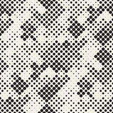 Modern Stylish Halftone Texture. Endless Abstract Background With Random Circles. Vector Seamless Mosaic Pattern. Royalty Free Stock Photos