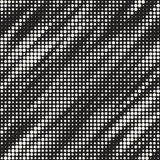Modern Stylish Halftone Texture. Endless Abstract Background With Random Circles. Vector Seamless Mosaic Pattern. Stock Image
