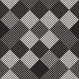 Modern Stylish Halftone Texture. Endless Abstract Background With Random Circles. Vector Seamless Mosaic Pattern. Stock Photo