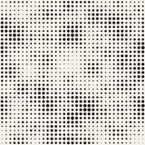 Modern Stylish Halftone Texture. Endless Abstract Background With Random Size Circles. Vector Seamless Pattern. Royalty Free Stock Image