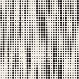 Modern Stylish Halftone Texture. Endless Abstract Background With Random Size Circles. Vector Seamless Pattern. Stock Images