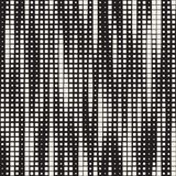 Modern Stylish Halftone Texture. Endless Abstract Background With Random Size Squares. Vector Seamless Chaotic Squares Pattern. Modern Stylish Halftone Texture royalty free illustration