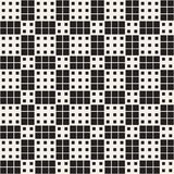 Modern Stylish Halftone Texture. Endless Abstract Background With Random Size Squares. Vector Seamless Chaotic Squares Pattern royalty free illustration