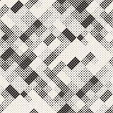 Modern Stylish Halftone Texture. Endless Abstract Background With Random Size Squares. Vector Seamless Chaotic Squares. Mosaic Pattern stock illustration