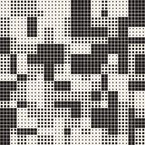 Modern Stylish Halftone Texture. Abstract Background With Random Size Squares. Vector Seamless Chaotic Squares Mosaic Pattern vector illustration