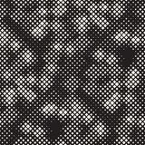 Modern Stylish Halftone Texture. Endless Abstract Background With Random Size Squares. Vector Seamless Chaotic Mosaic Pattern. Modern Stylish Halftone Texture vector illustration