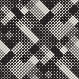 Modern Stylish Halftone Texture. Endless Abstract Background With Random Size Squares. Vector Seamless Squares Mosaic Pattern. Modern Stylish Halftone Texture royalty free illustration