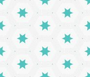 Modern stylish hexagon star texture. Delicate geometric tiles Stock Photos