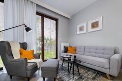 Modern stylish interior design room. Modern stylish interior design - living room with armchair Stock Images