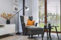 Modern stylish interior design room. Modern stylish interior design - living room with armchair Royalty Free Stock Image